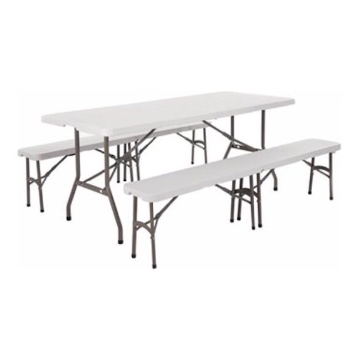 Superb 6Ft Folding Table And Folding Benches Pabps2019 Chair Design Images Pabps2019Com